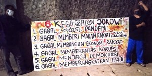 Mural 6 Kegagalan Jokowi