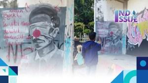 Mural mirip Presiden Jokowi