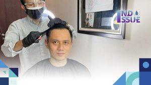 Foto dari Instagram, AHY sedang Cukur Rambut