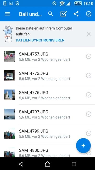 Damit deine Indonesien-Fotos sofort gesichert sind, lade sie direkt auf Dropbox hoch.