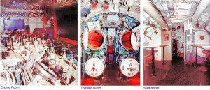 Ruang mesin dan ruang torpedo