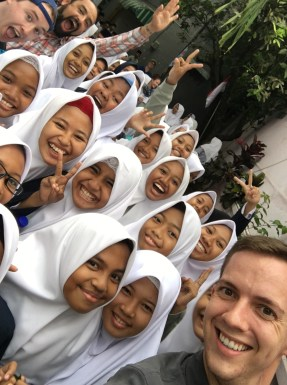 Some of the first friends I made in Indonesia