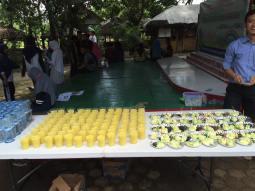 Mango juice and melon