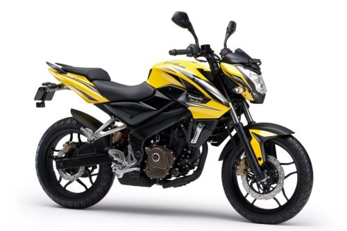 Kawasaki Bajaj Pulsar 200NS - Warna Kuning (Pearl Shining Yellow)