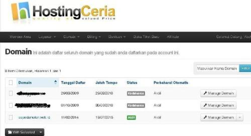 domain list di hostingceria