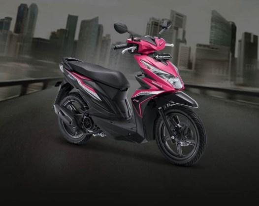 Honda BeAT warna Fusion Magenta Black