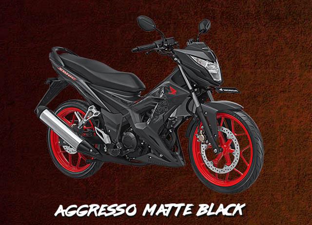 honda sonic 150r warna aggresso matte black 2016