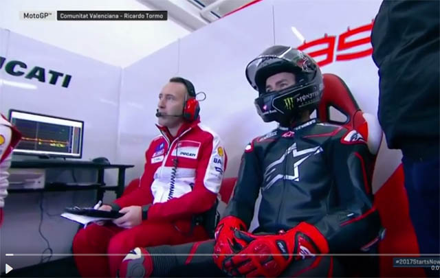 photo Lorenzo bersama Ducati