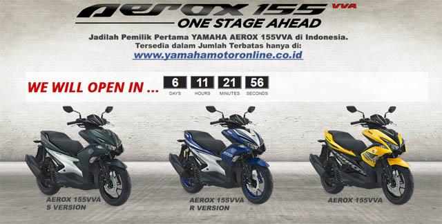 booking online Yamaha Aerox 155 VVA