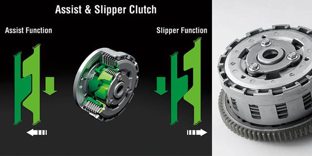 cara kerja assist and slipper clutch