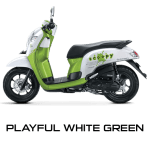 Honda Scoopy warna Playful White Green