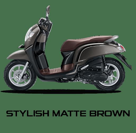 Honda Scoopy warna Stylish Matte Brown