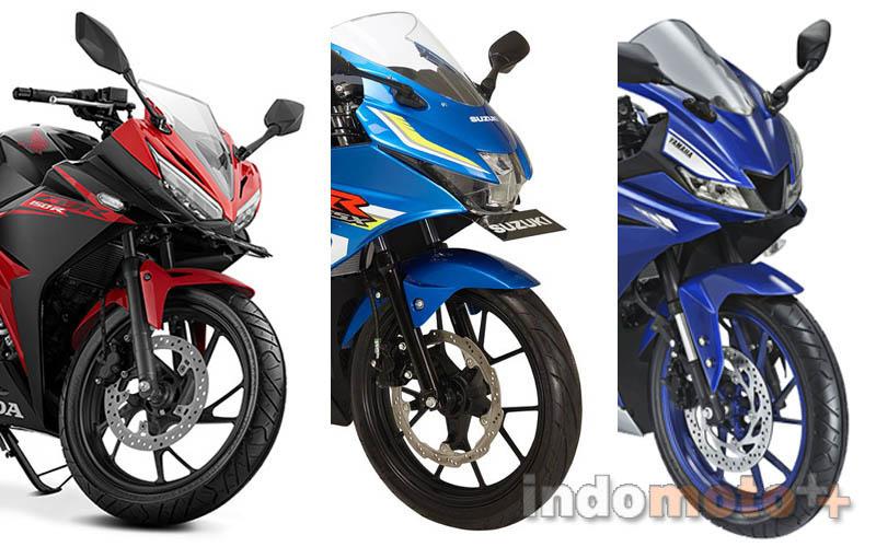 Penjualan motor honda CBR150R vs Suzuki GSX-R150 vs Yamaha R15