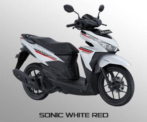 Honda Vario 125 warna Sonic White Red