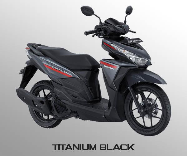 Honda Vario 125 warna Sonic Titanium Black