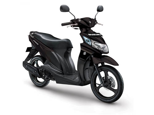 Suzuki Nex warna matt black