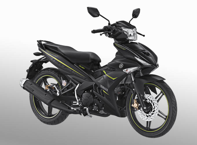 Yamaha MX King warna matte black (hitam)