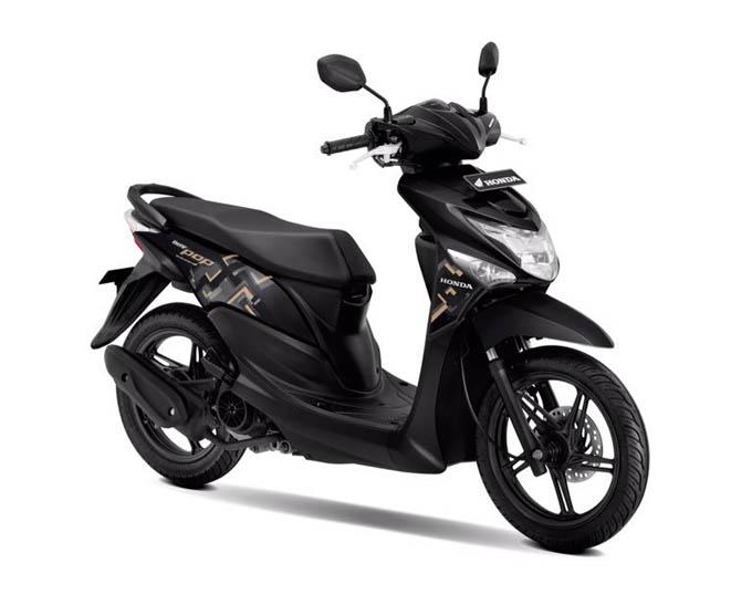 Honda Beat Pop Warna Acoustic Black (Hitam)