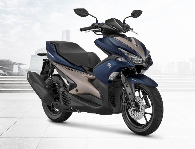 Yamaha Aerox 155 VVA S-Version Warna Biru (Matte Blue)