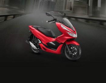 Honda PCX Warna Majestic Matte Red