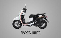 Honda Sccopy Warna Sporty White