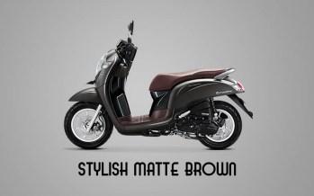 Honda Sccopy Warna Stylish Matte Brown