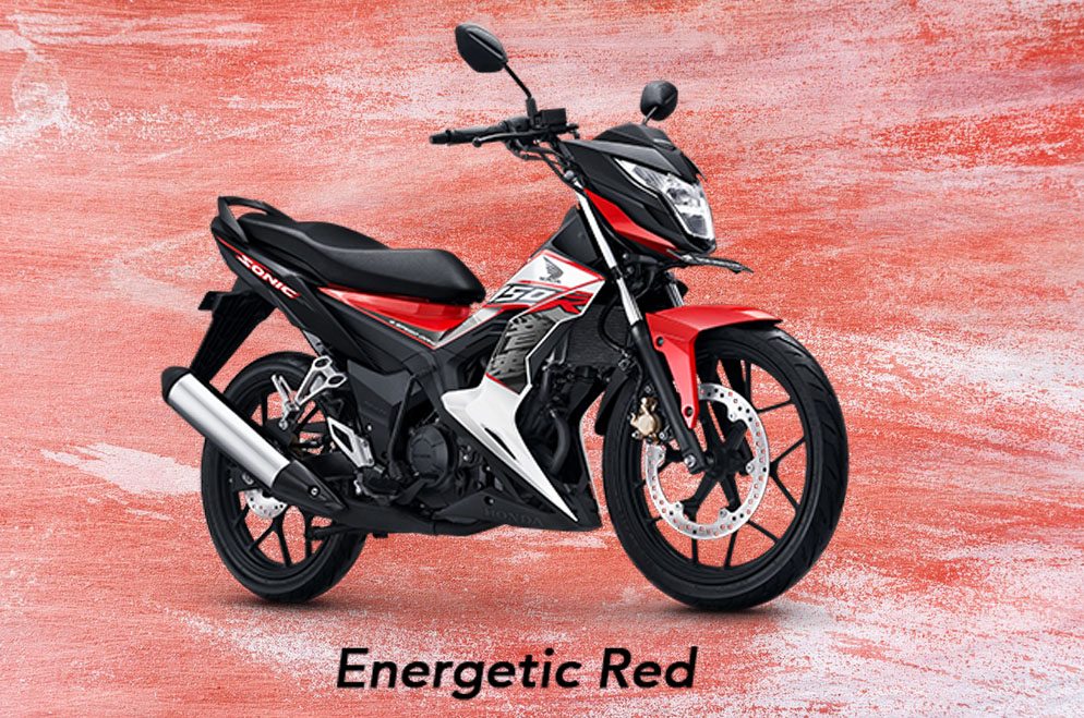 Honda Sonic 150R Warna Energetic Red