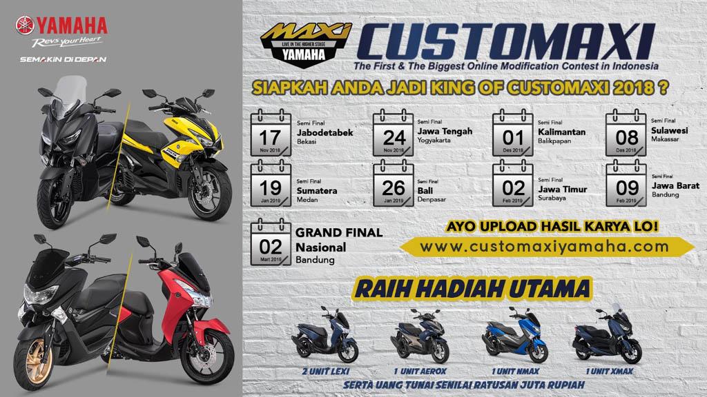 Jadwal Yamaha CustoMAXI 2018