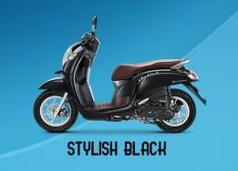 Honda Scoopy Warna Stylish Black