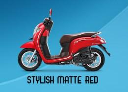 Honda Scoopy Warna Stylish Matte Red