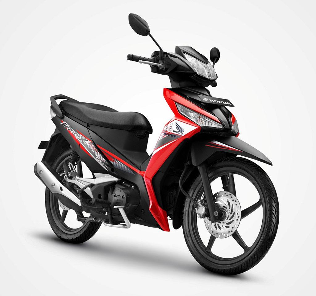 Honda Supra X 125 FI tipe Casting Wheel (SW) warna Energitic Red