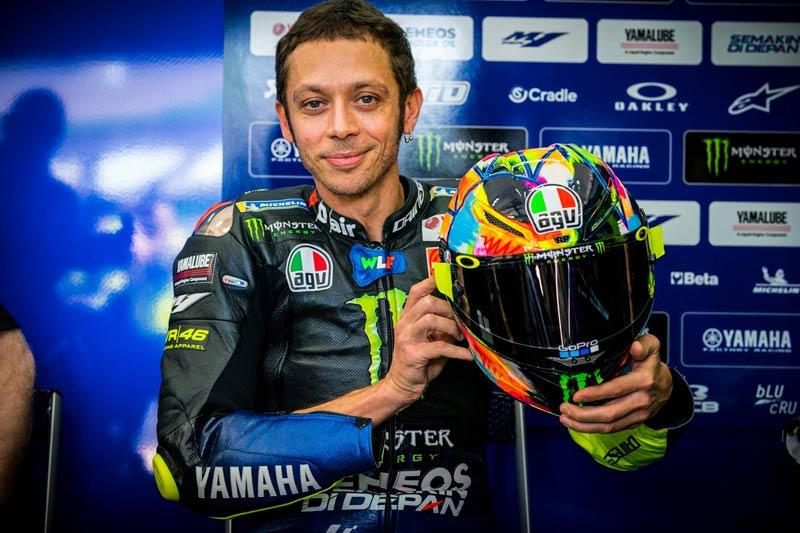 Rossi Winter Test 2019 Special Helmet AGV