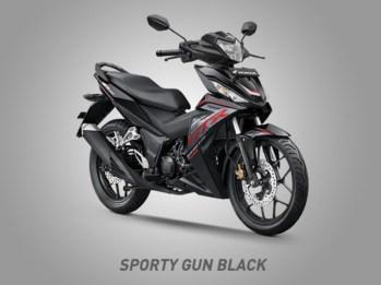 Honda Supra GTR150 Warna Sporty Gun Black