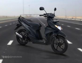 Suzuki Nex II Varian Elegant Premium Warna Mat Solid Black
