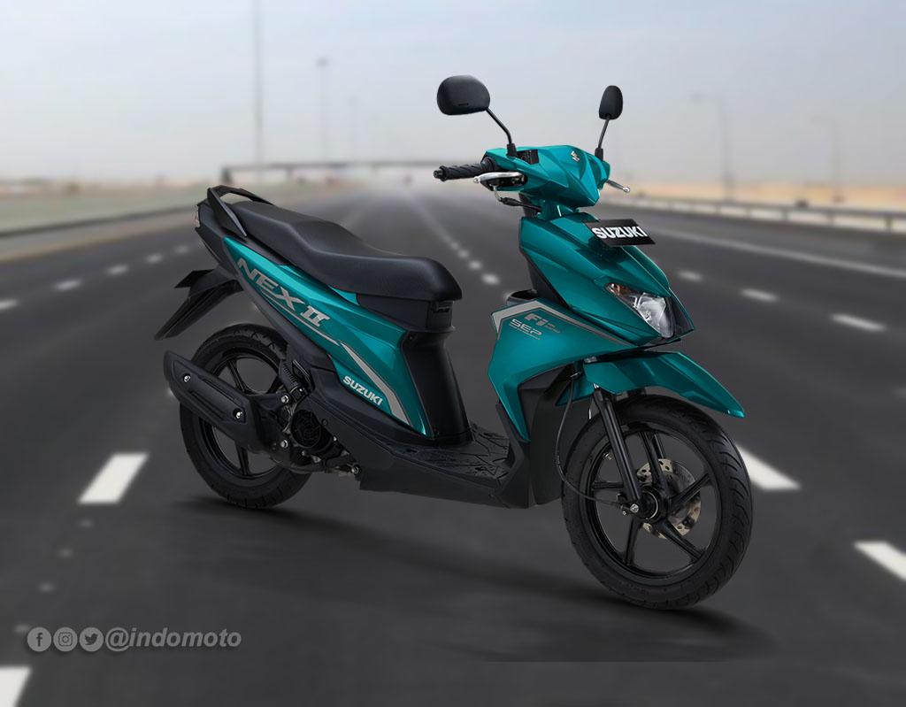 Suzuki Nex II Varian Standard Warna Jackal Green