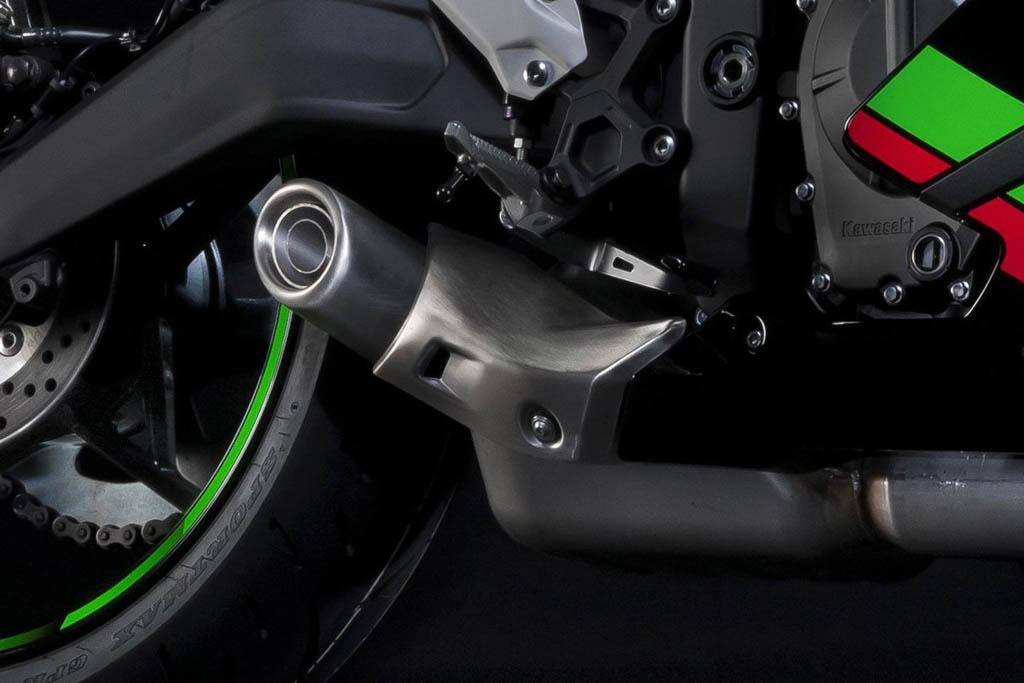 Kawasaki Ninja ZX-25R under-belly muffler