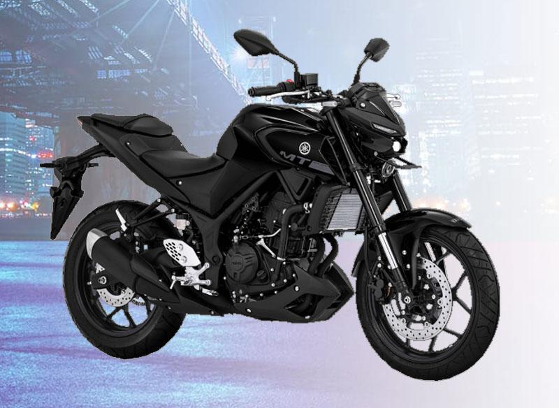 Yamaha MT-25 Warna Metallic Black