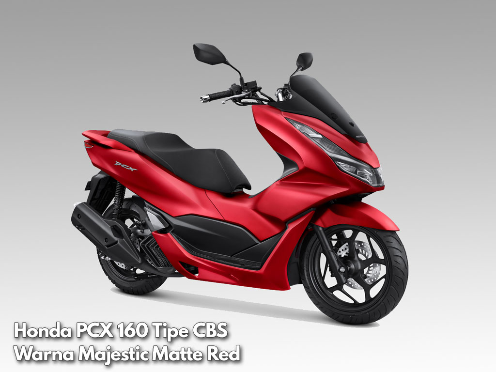 Honda PCX 160 tipe CBS warna Majestic Matte Red