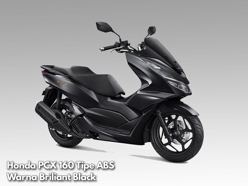 Honda PCX 160 tipe ABS warna Briliant Black