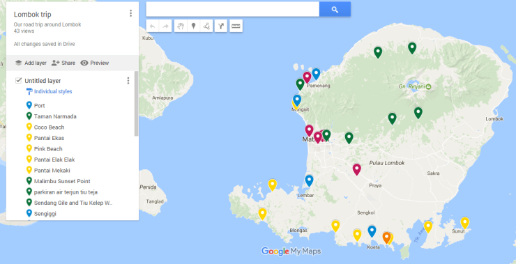 Plan for travelling Lombok with a toddler