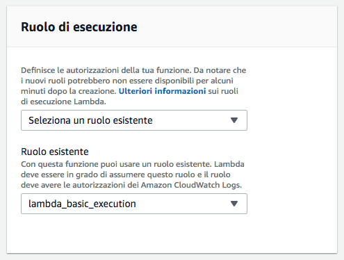 AWS Amazon Web Services - Lambda - Role of execution