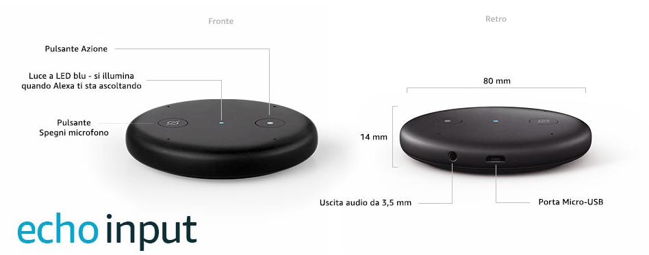 Amazon Echo Input - Dettagli tecnici