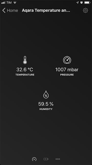 App Homey - Xiaomi - Sensorand thermal - Detail