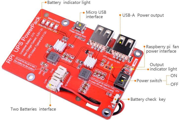 Batterie pour Raspberry Pi - fiche de contrôle