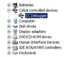 CC Debugger Windows Fahrer