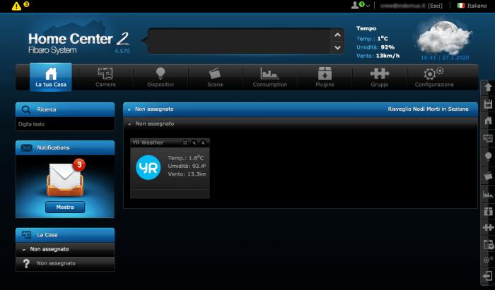 FIBARO Home - Home Center 2 - Default screen