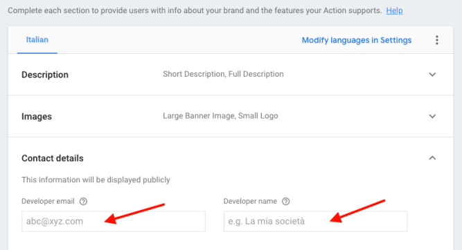 Google Actions - New project - Deploy 4