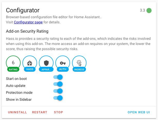 HASSIO - configurateur