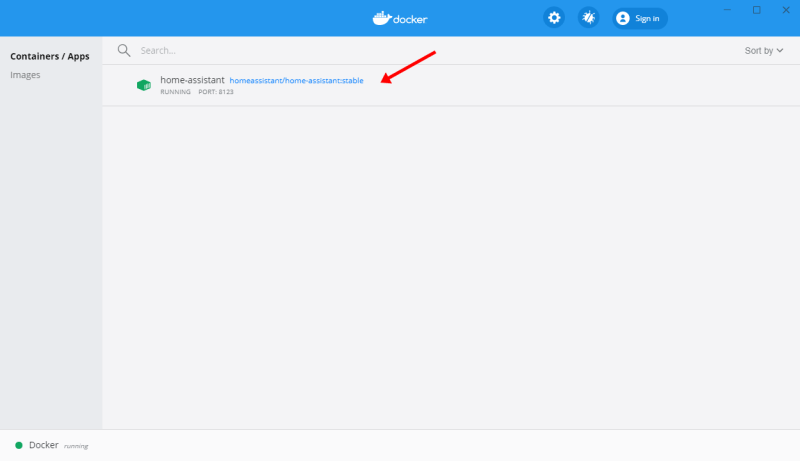 Home Assistant Core su Docker su Windows