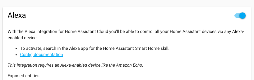 Home Assistant - Integrazione Amazon Echo Alexa con Nabu Casa